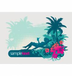 tropical holiday vector image vector image