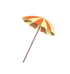 umbrella orange and white vector image