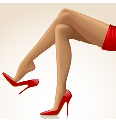 Womans legs vector image vector image