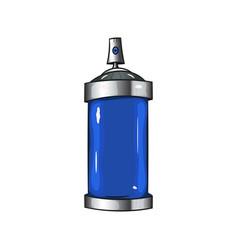 Sprays with blue paint vector