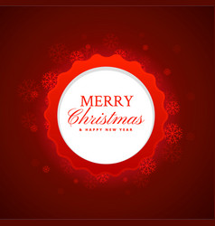 Merry christmas festival background in red color vector