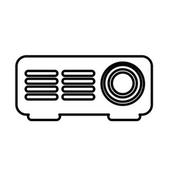 Video projector isolated icon vector