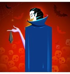 Dracula with hanging Bat vector image