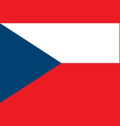 Czech republic flag vector