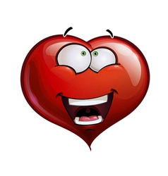 Heart faces happy emoticons wanderful vector