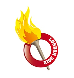 Olympic flame vector