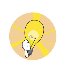 Bad idea lamp vector