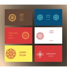 Mandalas business card 3 vector