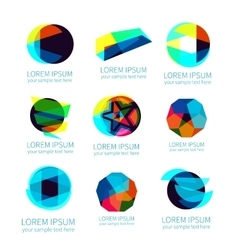 Set of different abstract logotypes vector
