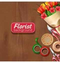 Florist background vector
