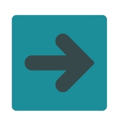 Arrow right flat soft blue colors rounded button vector