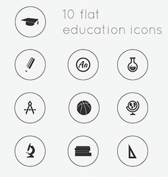 Modern flat icons collection of education theme vector