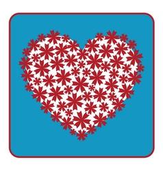 Heart floral design vector