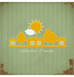 Vintage Rural estate symbol vector image