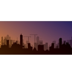 Silhouette of town vector