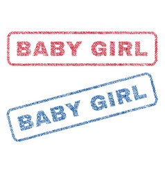 Baby girl textile stamps vector