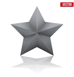 Black five-pointed star vector