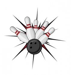 Bowling symbol vector