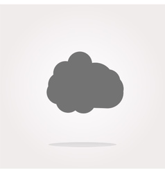 Cloud icon web button vector