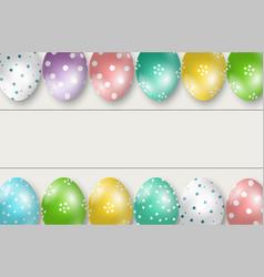 Colorful easter eggs double edge border vector