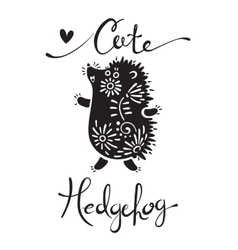 Cute hedgehog vector