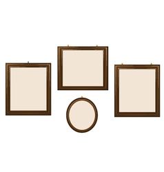 Empty wooden frames vector