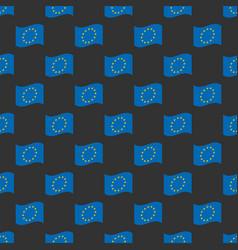 european union flag seamless pattern vector image vector image