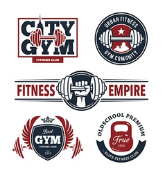 Fitness Emblems Set vector image vector image