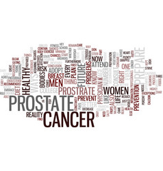 For prostrate cancer text background word cloud vector
