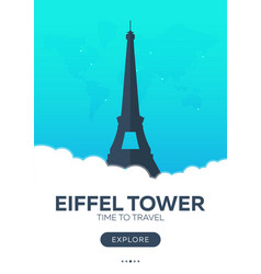 France eiffel tower time to travel travel vector