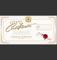 Gift certificate retro design template vector