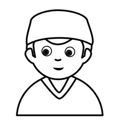 Male surgeon avatar character vector