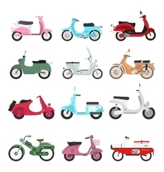 Retro motorbike set vector image