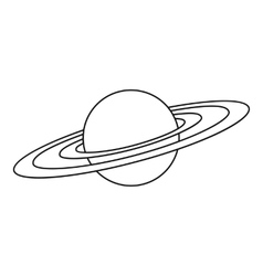 Saturn planet icon outline style vector