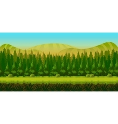 Seamless fantasy landscape game background vector image vector image