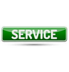 service - abstract beautiful button with text vector image