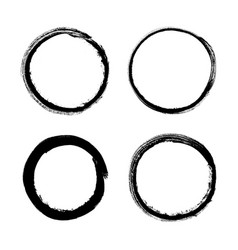 set of grunge circle vector image vector image