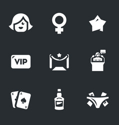 set of woman club icons vector image vector image
