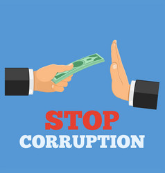 stop corruption concept vector image