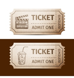 tickets vector image