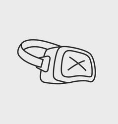 Virtual 3d reality goggles vector