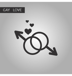 Black and white style icon gay male symbol vector