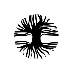Circle tree logo vector