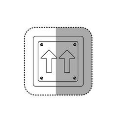 Sticker silhouette metallic square frame same vector