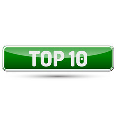 Top 10 - abstract beautiful button with text vector