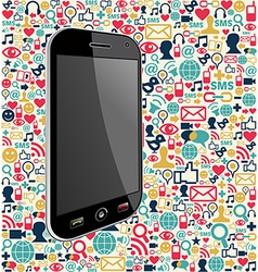 Iphone social media icon background vector