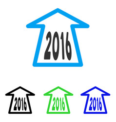 2016 ahead arrow flat icon vector