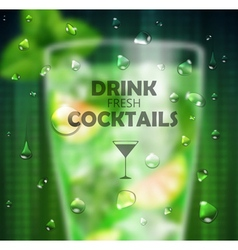 Cocktail blurred background vector