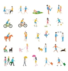 People large set vector