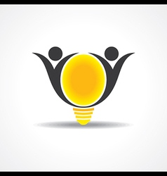 Icon of happy people light bulb stock vect vector